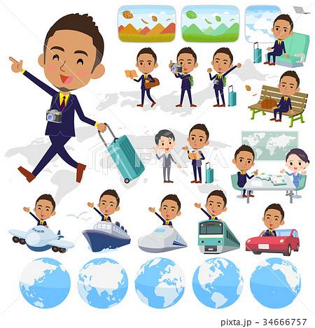 Berry Short hair businessman black_travel 34666757