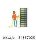 サーバー システム コンピュータのイラスト 34667025