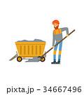 鉱夫 鉱山労働者 ベクトルのイラスト 34667496