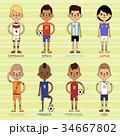 ベクトル サッカー チームのイラスト 34667802