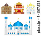 ベクトル 神社 建築物のイラスト 34667838
