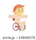 男の子 男児 負傷のイラスト 34668078