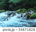円原川 伏流水 川の写真 34671828