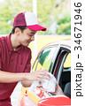 ガソリンスタンド 車内ゴミ受け取り  34671946