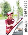ガソリンスタンド 車内ゴミ受け取り  34671949