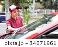 ガソリンスタンド 洗車 拭き取り  34671961