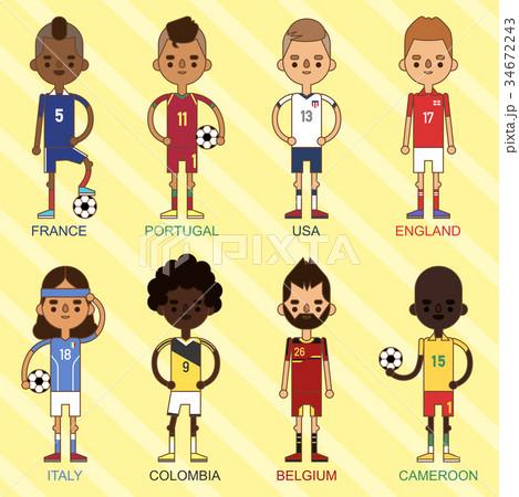 National Euro Cup soccer football teams vector 34672243
