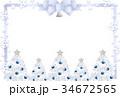 クリスマス フレーム はがきテンプレートのイラスト 34672565