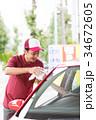 ガソリンスタンド 車内ゴミ受け取り  34672605