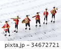 演奏 音楽 楽譜の写真 34672721