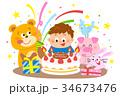 誕生日 お祝い 男の子 動物 34673476