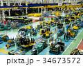 ブルドーザーの組立工場 34673572