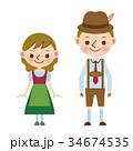 ドイツ ドイツ人 民族衣装 世界 男女 人種 34674535