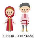 ロシア ロシア人 民族衣装 世界 男女  34674828