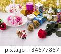 クリスマスイメージ(サンタとトナカイ) 34677867