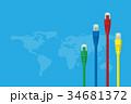 LAN ケーブル 世界のイラスト 34681372