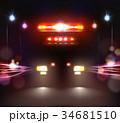 自動車 ライト 光のイラスト 34681510