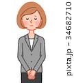 女性 人物 ジャケットのイラスト 34682710