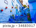 モロッコ シャウエン 青い街の写真 34683017