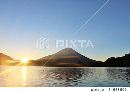 富士山と初日の出 34683691