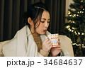 女性 ココア コーヒーの写真 34684637
