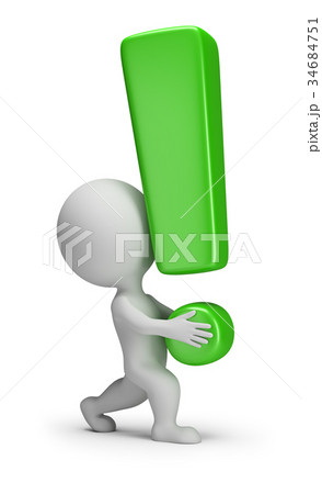 3d small people - carries an exclamation mark 34684751