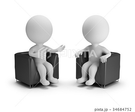 3d small people - conversation 34684752