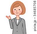 女性 人物 ジャケットのイラスト 34685708