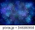 Bright space background with nebula 34686908