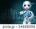 AI 人工知能 ロボットのイラスト 34688098