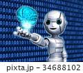 AI 人工知能 ロボットのイラスト 34688102