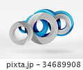 Modern 3d ring vector abstract background 34689908