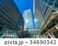 高層ビル オフィス街 ビジネス街の写真 34690342