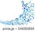 ミュージック 音符 音楽のイラスト 34690899