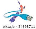 インターネット ケーブル 綱のイラスト 34693711
