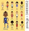 サッカー ユーロ チームのイラスト 34693852