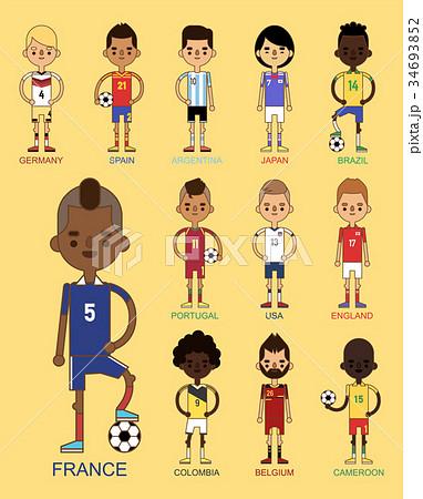 National Euro Cup soccer football teams vector 34693852