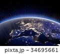 地球 スペース 空間のイラスト 34695661