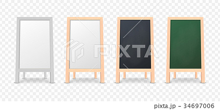 Realistic menu announcement board icon set 34697006