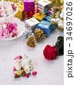 クリスマス クリスマスイメージ オーナメントの写真 34697026
