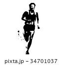 マラソンランナー 34701037
