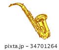 サックス 水彩画 34701264