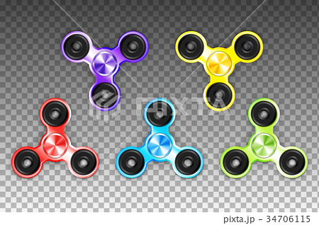 Fidget Spinners Popular Antistress Hand Toys. EPS 34706115