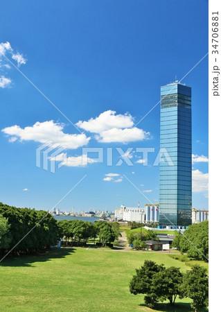 千葉県 青空の千葉ポートタワー 34706881
