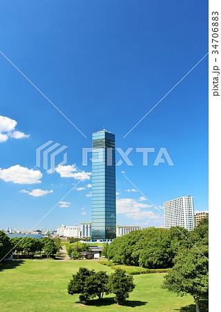 青空の千葉ポートタワー 34706883