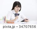 女子中学生 中学生 女の子の写真 34707656