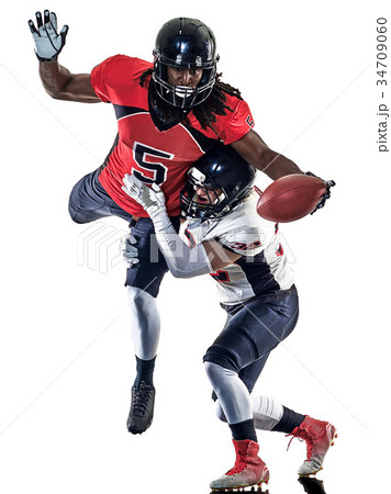 american football players men isolated 34709060