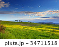 Landscape with field at sunset in Tuscany 34711518