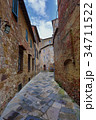 Street in old medieval italian town 34711522