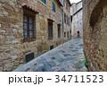 Street in old medieval italian town 34711523